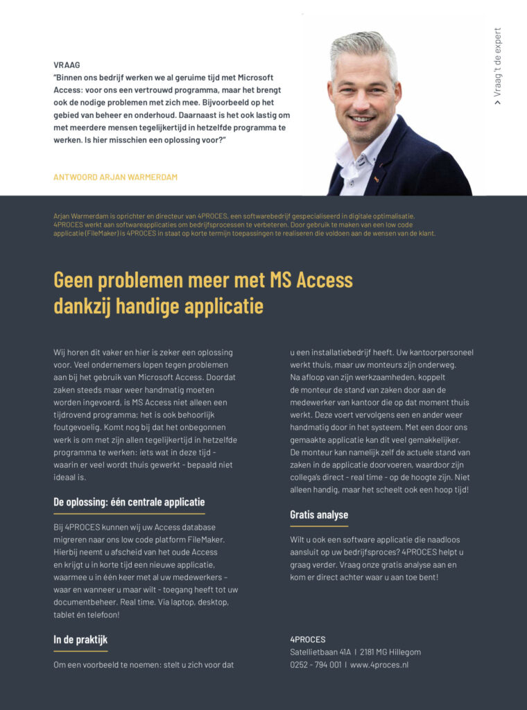 4PROCES wintereditie INTO business